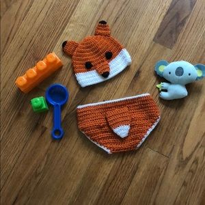 Other - Hand crochet hat & diaper cover set